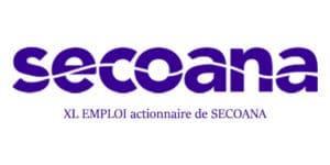 SECOANA, logo. Partenaire de solutions pour l'emploi.