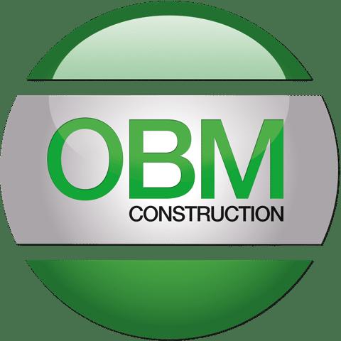 OBM Construction, logo.